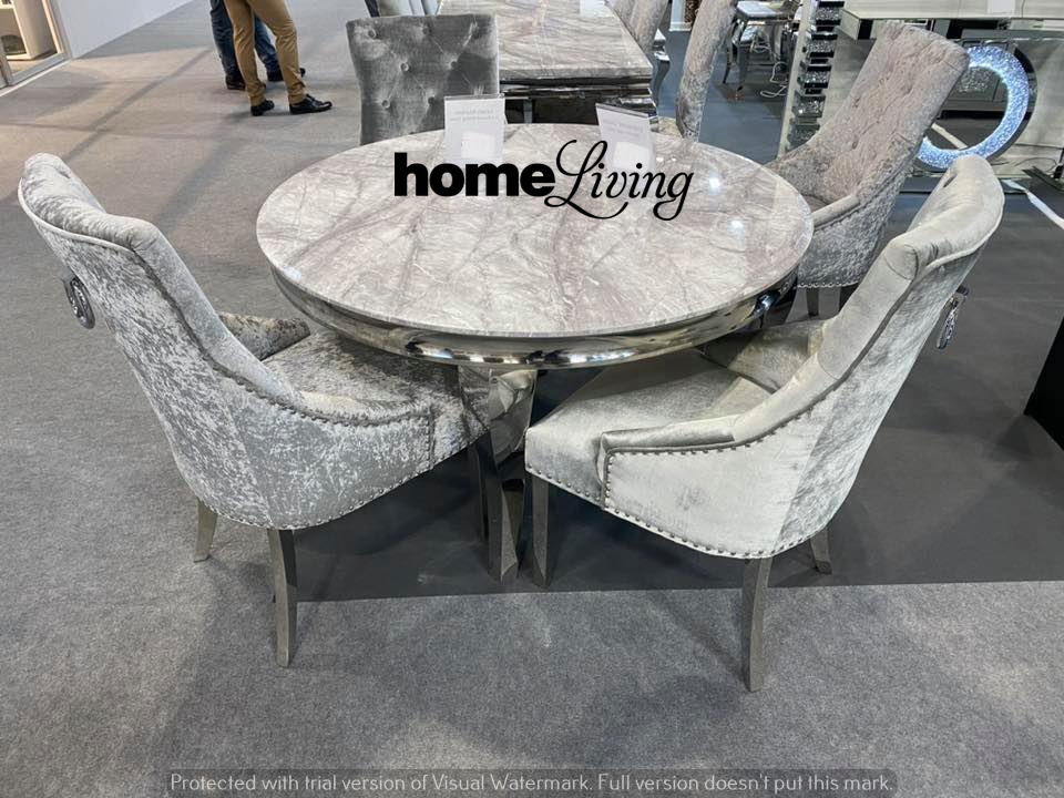 The Loui Round Marble Dining Table And, Round Marble Dining Table And Chairs