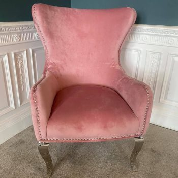 Brooklyn Pink Button Back Chair
