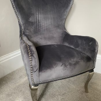 Brooklyn Grey Button Back Chair