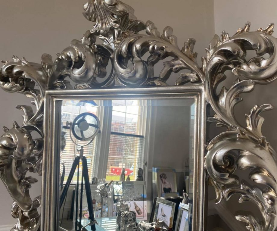 Gloria Ornate Mirror in Champagne