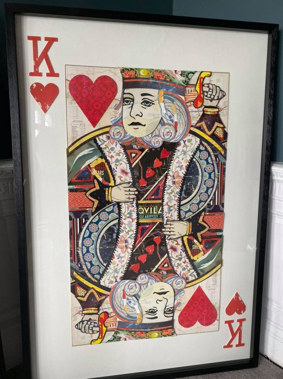 King of Hearts Giant Wall Art
