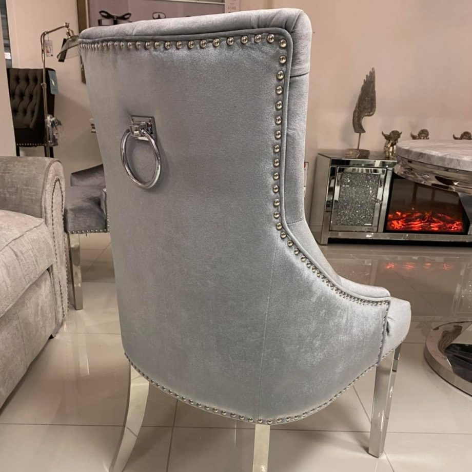Ring Back Studded Dining Chair
