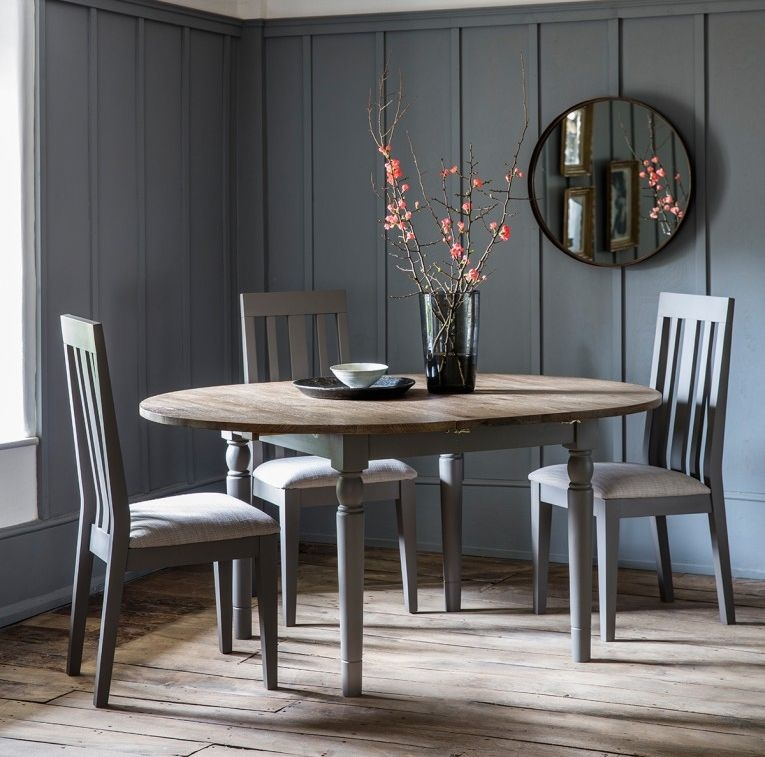 Cookham Grey Round Extending Dining, Round Extendable Dining Table Set Grey